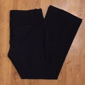 Theory Stylish Black Wool Blend Dress Pants